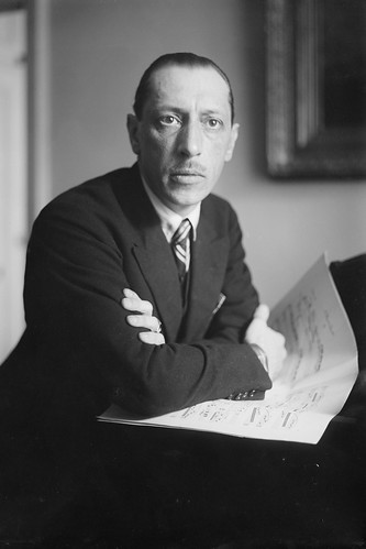 Igor Stravinsky in action.