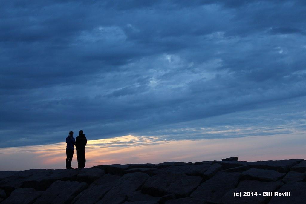 silhouetted against the sky at Hammonassett beach