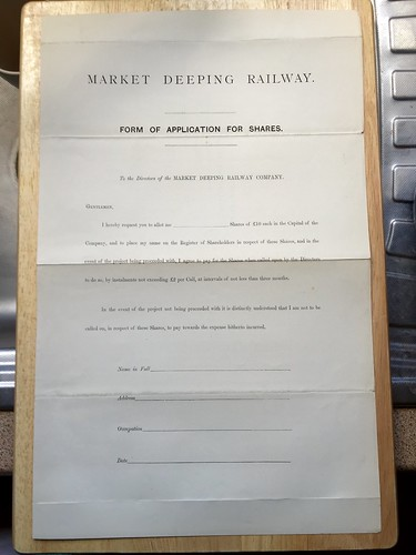 Market Deeping Railway application for shares undated | by ian.dinmore