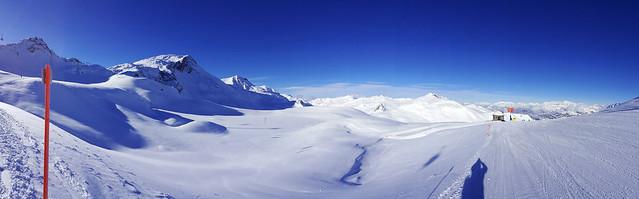 Panoramaview on the Ski run number 21 - Davos - Switzerland