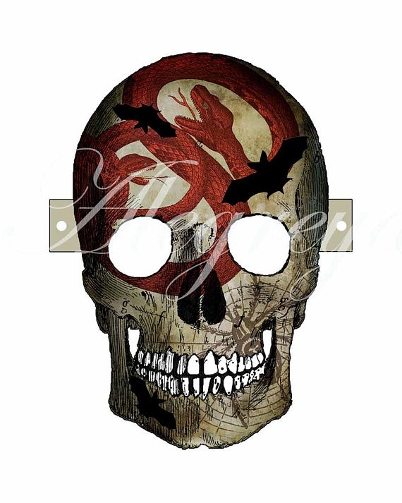 graphic about Printable Skull known as Printable Skull Mask - Alegreya Blogged: www.allthingspape