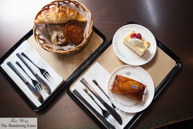 Trays with our delectable pastries
