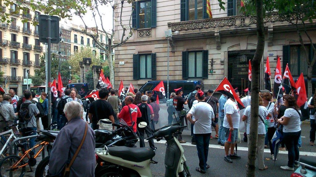 concentració CGT a la Delegació del govern a barcelona 30 setembre