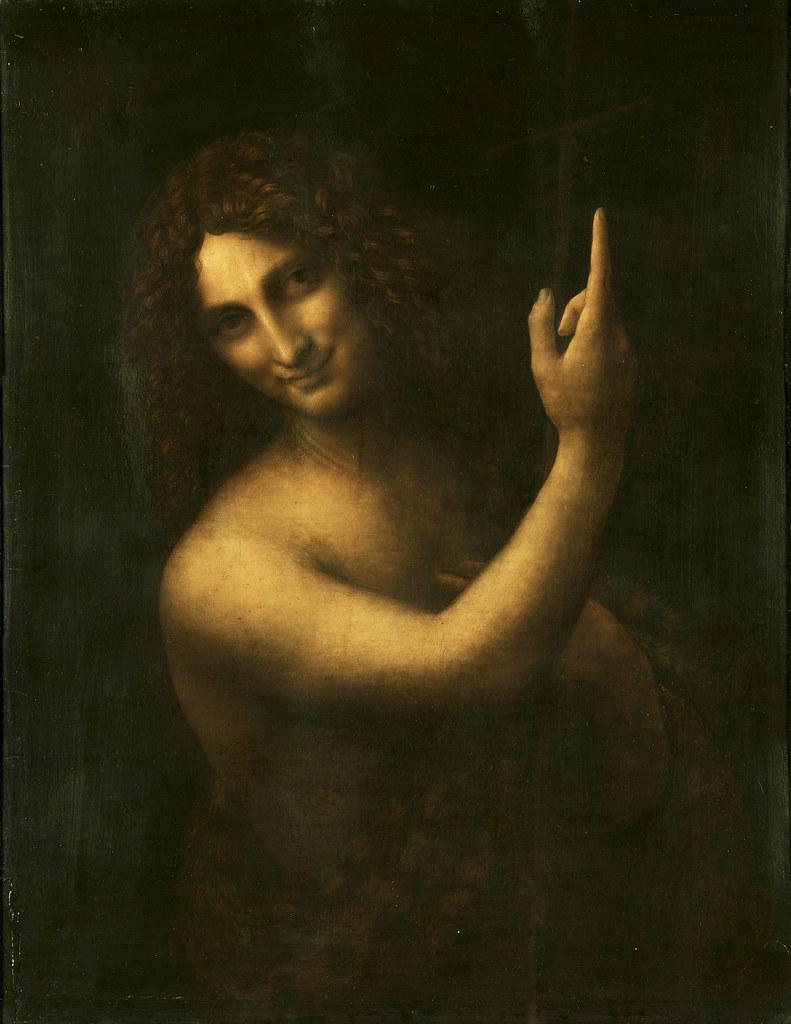 Leonardo da Vinci, St. John the Baptist. c. 1513-1516.