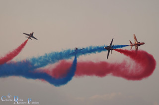 RED ARROWS ON THE SUNSET