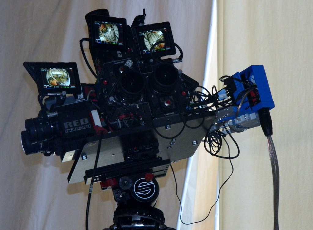This Red Dragon 6k 3-D video camera system was just one ca ...