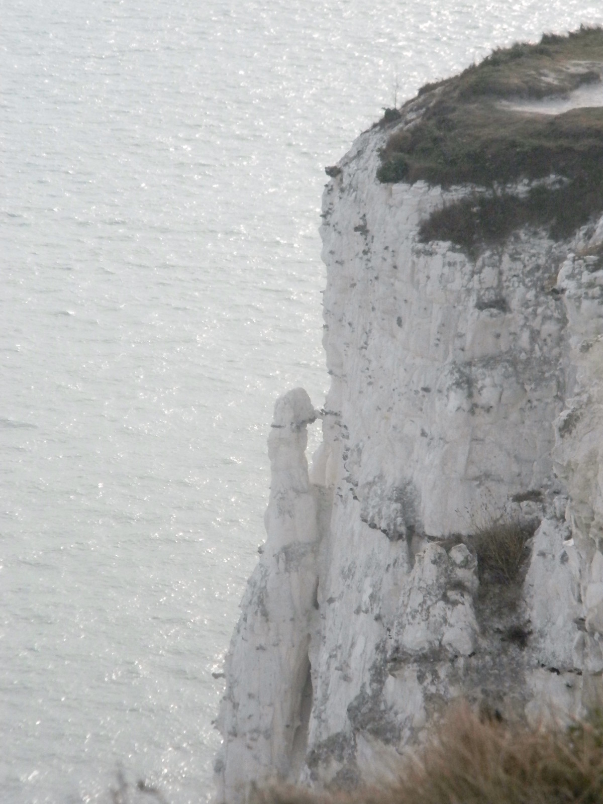 Crumbly cliff Looks like a meerkat? Deal to Dover.