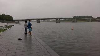 Prof Tachibana, Students and Protei 011.1 in Saiko Lake, Saitama Japan
