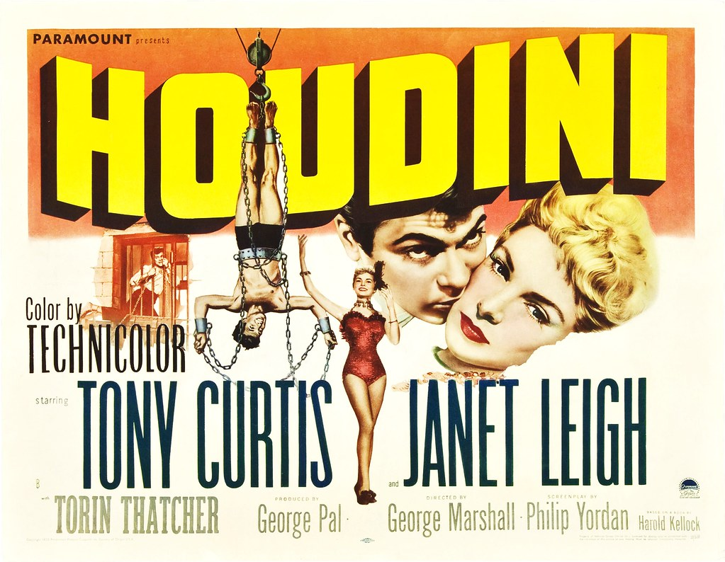 Houdini (1953 / Paramount) style-B half sheet | The poster a… | Flickr