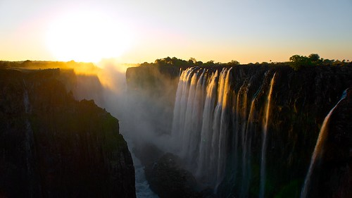 Sunset at the Victoria Falls | by fvfavo