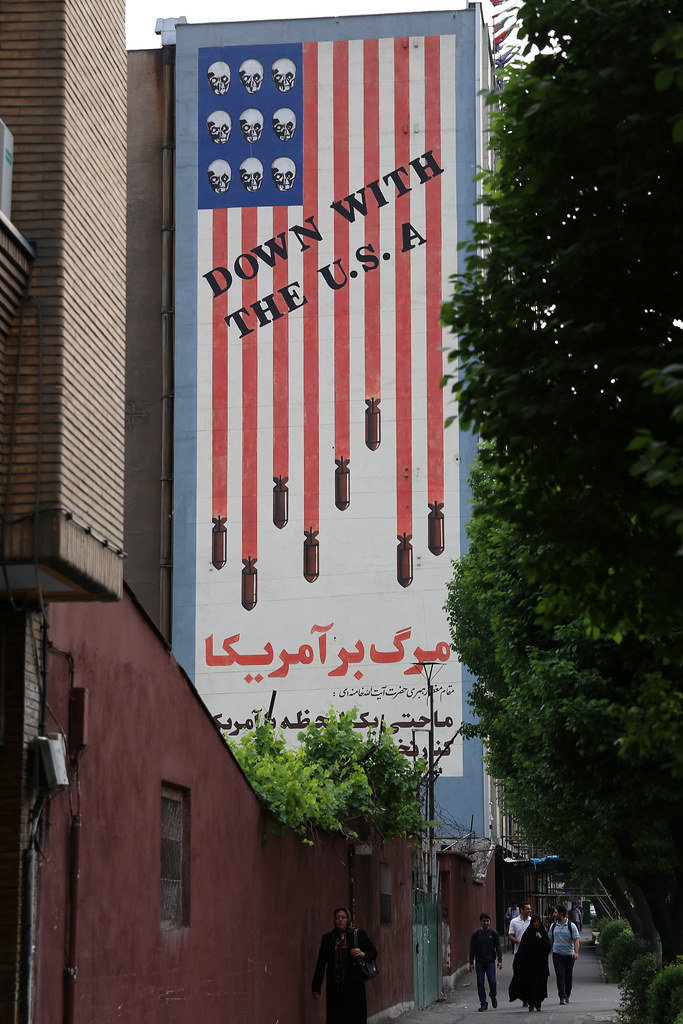 Famous Mural Quot Down With The Usa Quot On The Karim Khan E Zand