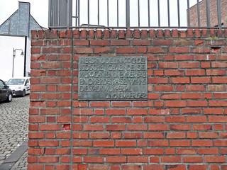 Wuppertal - Gedenktafel (1962) für die zerstörte Synagoge