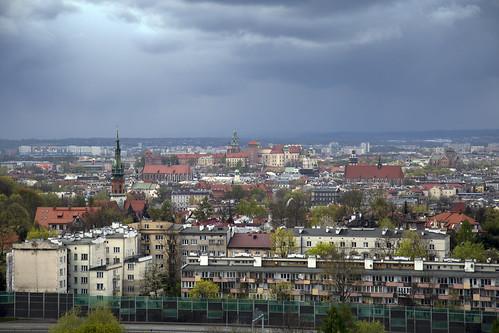 cracow kraków wawel city view landscape krakus mound
