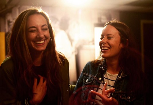"""Every film has a wonderful character, or group of characters, at the center of the story. @fullframefest is really helping us think about how to create character-driven narratives in our film & draw empathy from our audience."" Victoria & Pilar have a spe 