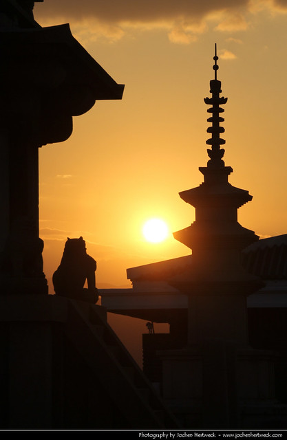 Sunset, Gyeongju National Museum, Gyeongju, South Korea