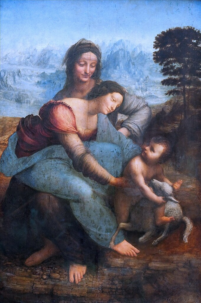Leonardo da Vinci, The Virgin and Child with Saint Anne. c. 1508.