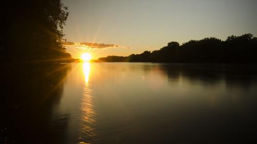 sunset summer water mississippiriver
