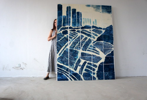 cyan mural | by E.Briel