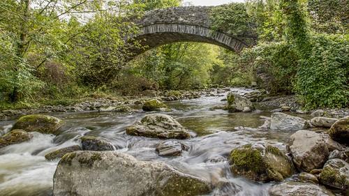 Bridge Over Afon Rhaeadr Fawr HDR