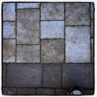 Shoegazing The Octagon tiles, Westport, County Mayo, Ireland
