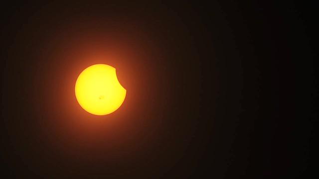 Video of partial solar eclipse