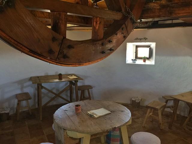 Interior del gastromolino de Consuegra