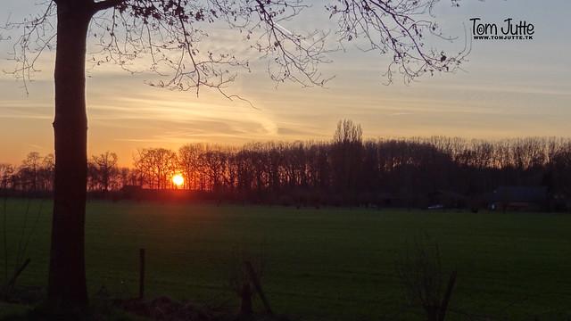Sunset, Odijk, Netherlands - 4885