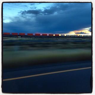 SKY TRAIN BRUSH ROAD. #airstream #airstreamdc2cali #vintageairstream #arizona