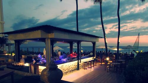 sunset sea people blur bar landscape restaurant hotel evening photos shore srilanka anan colombo adiyat