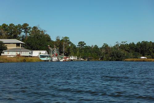 trees pine river alabama coastal wetlands marsh shrimpboat waterscape gulfcoast baldwincounty bonsecour ilobsterit