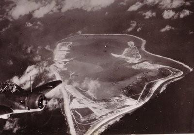 Vista aerea de la Isla de Wake