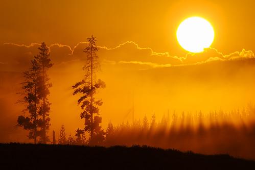 sun fog sunrise montana yellowstonenationalpark yellowstone swanlake gardiner jeffdyck swanlakeflats