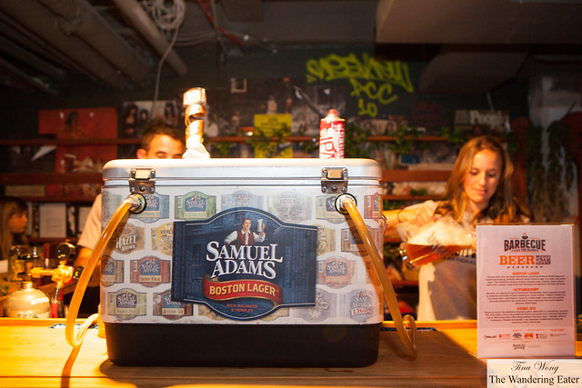 Samuel Adams Beer served