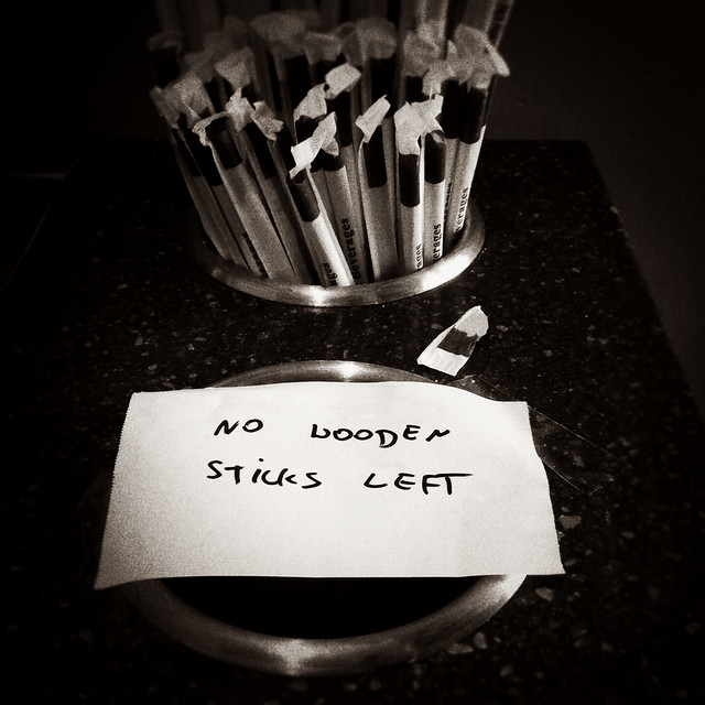 No wooden sticks left.