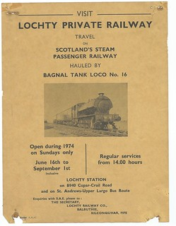 Lochty Private Railway publicity poster 1974 | by ian.dinmore