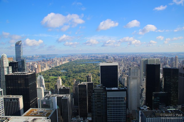 """Central Park as seen from the """"Top of the Rock"""""""