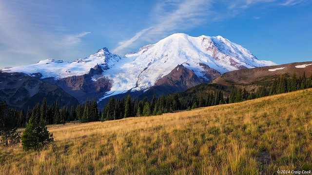 Mount Rainier in early morning light