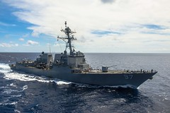 In this file photo, USS Halsey (DDG 97) operates in the South China Sea in October. (U.S. Navy/MCSN David Flewellyn)