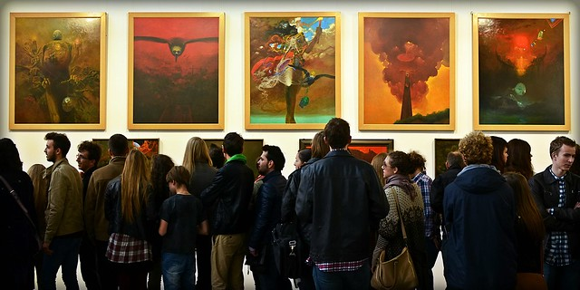Wystawa Zdzisława Beksińskiego w Nowohuckim Centrum Kultury