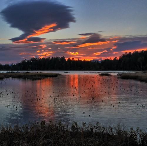 sunset norway twilight malvik southtrondelag