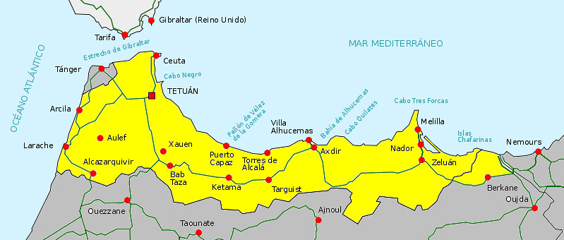 Spanish protectorate in Morocco Location Map   en.wikipedia ... on macau map, sri lanka map, ecuador map, ciudad del vaticano map, chile map, colombia map, honduras map, trinidad y tobago map, romania map, myanmar map, france map, argelia map, africa map, kenya map, armenia map, bangladesh map, portugal map, morocco map, las palmas map, islas malvinas map,