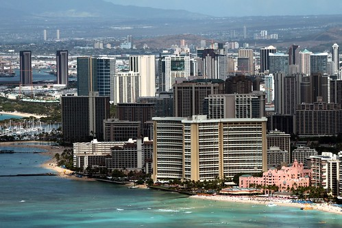 Prime Location for Hotels : Waikiki Beach Ocean Front Rows | by Prayitno / Thank you for (12 millions +) view