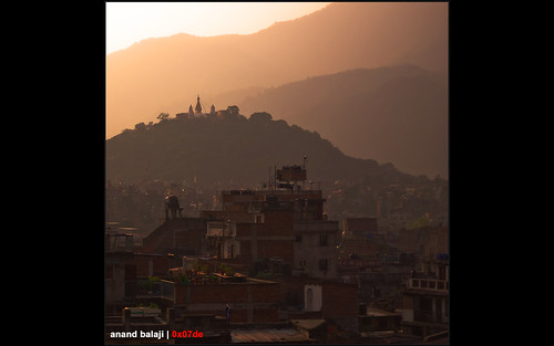 city nepal sunset mountain mountains square temple monkey asia hill hills valley kathmandu durbar swayambhunath