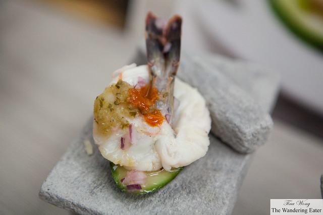 Scallop with sardine