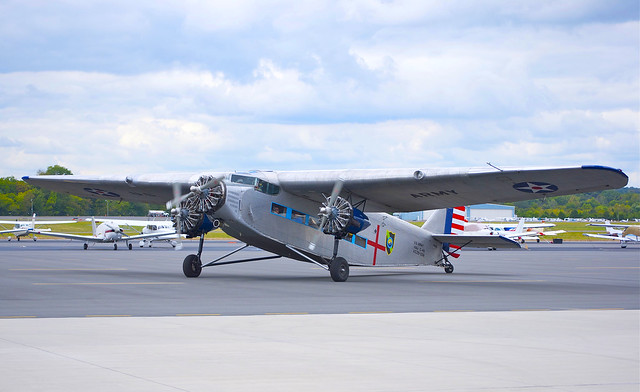 1929 Ford Tri-Motor Taxiing, Manassas Airport, Virginia