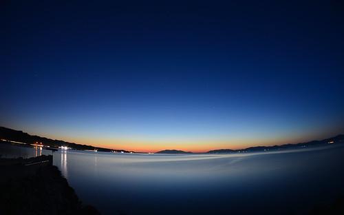 longexposure sunset lake water night nikon fisheye shimane nightview matsue lakeshinji d600 松江 島根 宍道湖 sannin