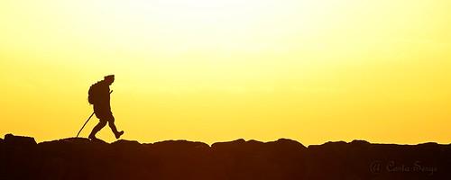 man homme sunrise leverdesoleil silhouette graphisme minimaliste graphic jaune yellow digue fisher people personne dam côte shore contrast contraste simple minimalist contrejour backlighting couleur color colores pierres stones rivage simply soleil sun sol littoral coastline méditerranée mediterranean pêcheur matin morning mañana nikor solitude lanelines silueta salidadelsol
