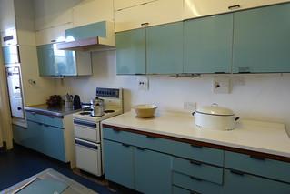 The 1950's Blue kitchen at Dunster Castle