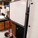 White board with castors E80