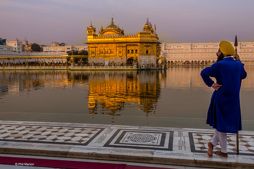 Temple guard and Sikh Golden Temple - Amritsar, India | by Phil Marion (173 million views - THANKS)